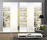 5er-Set Flächenvorhang LUCCA, 95893-768, bestehend aus Motiv- und Uni-Flächenvorhängen | je 245x60 cm
