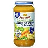 Alnatura Demeter Bio Vegetarisches Menü: Karotte-Brokkoli mit Dinkelnudeln, 6er Pack (6 x 250 g)