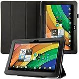 kwmobile Hülle für Acer Iconia A3-A10 / A3-A11 mit Ständer - Kunstleder Tablet Case Cover Tasche Schutzhülle in Schwarz