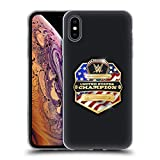 Head Case Designs Officiel WWE United States Champion Ceintures de Titre Coque en Gel Doux Compatible avec iPhone XS Max