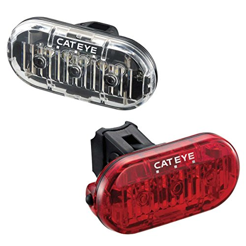 CatEye Omni 3 F/R Set TL-LD135 Cycling Lights and Reflectors - Black