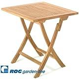 ROG garden-line TL8107 TEAK TISCH SUNBREAKER, KLAPPBAR 75 x 75 x 75 CM