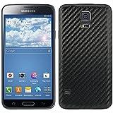 kwmobile Coque carbon pour batterie aspect carbone pour Samsung Galaxy S5 / S5 Neo / S5 LTE+ / S5 Duos en noir - Assortie au design de votre Samsung Galaxy S5 / S5 Neo / S5 LTE+ / S5 Duos