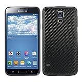 kwmobile Coperchio batteria in stile carbonio per il Samsung Galaxy S5 / S5 Neo nei colori nero - Completa il design del Suo Samsung Galaxy S5 / S5 Neo