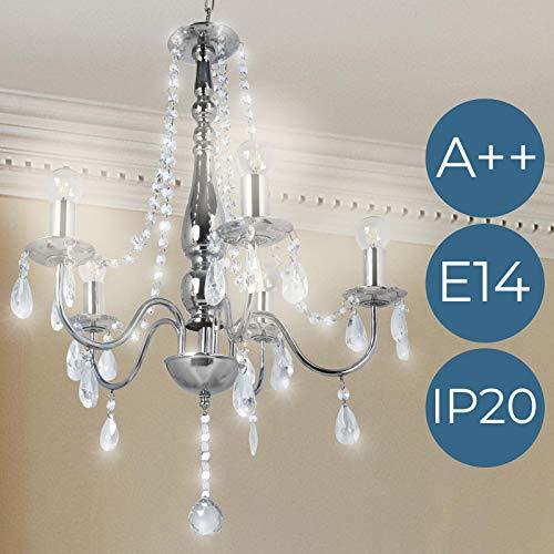 jago Lampadario cristallo chandelier soffitto di cristallo con 5 luci classe A++ fino E