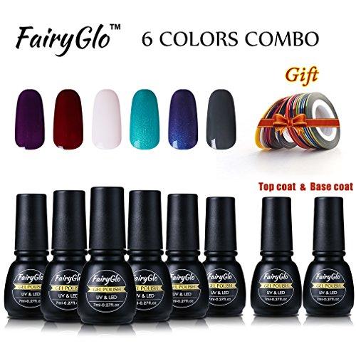 fairyglo-6-pcs-gel-nail-polish-uv-led-top-base-builder-gel-soak-off-manicure-nail-striping-tapes-fas
