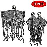 THE TWIDDLERS Halloween 3 Hängende Gruselige Skelette Saisonale Dekoration - bis zu 70CM hängend von der Decke, Perfekte Party Deko