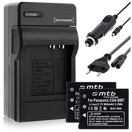 (KFZ, Netz) für CGA-S007 / Panasonic Lumix DMC-TZ1 TZ2 TZ3 TZ4 TZ5 TZ11 TZ15 TZ50 ()