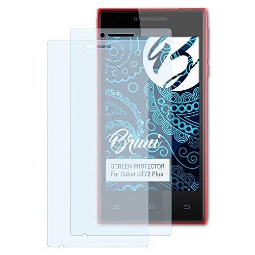 Bruni Schutzfolie für Cubot GT72 Plus Folie - 2 x glasklare Displayschutzfolie