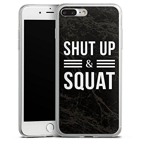 Apple iPhone X Slim Case Silikon Hülle Schutzhülle Squat Fitness Statements Silikon Slim Case transparent