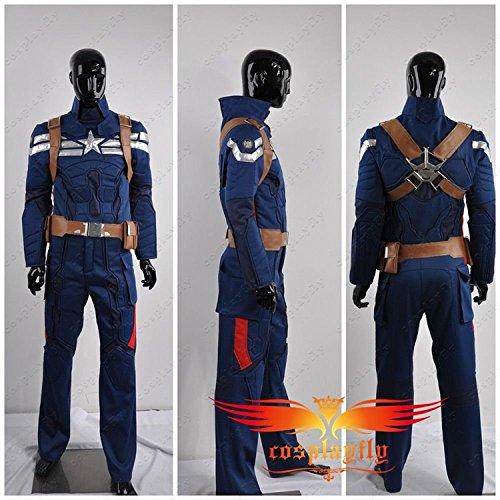 Capitán América 2El Winter Soldier Steve Rogers Azul Oscuro Color de Cosplay disfraz