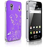 Lila Und Silber Schmetterling Blumen Muster Harte Rückseite Hybride IMD Schutzhülle Für Samsung Gala