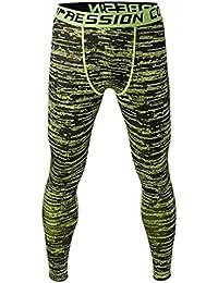 Pantalon de Sport Homme Legging de Compression Disco Vêtement Haute élasticité