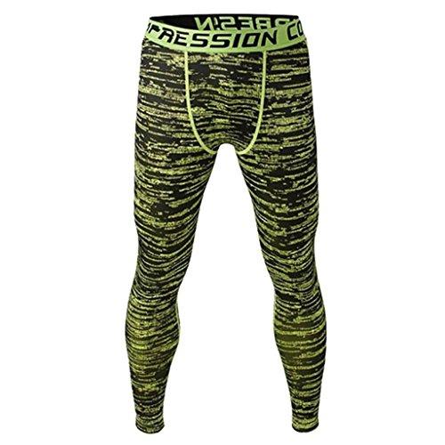 (Männer Leggings lang Unterhose Unterwäsche Strumpfhose Herrenleggings Hose - Grün , XXL)