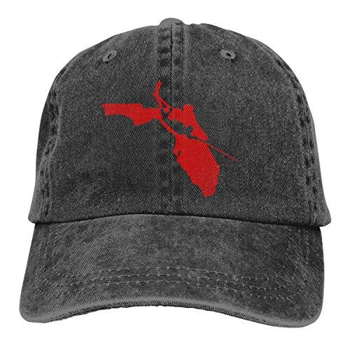 cvbnch Cowboy-Hut Sonnenkappen Sport Hut Florida Fishing Scuba Diver Men's Women's Adjustable Baseball Hat Yarn-Dyed Denim Dad Hats Sports Cool Youth Golf Ball Unisex Hiking Cowboy hat hip hop