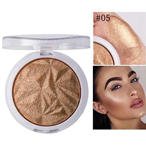 Allbestaye Highlighter Puder Bronzers Glitzer Diamant Glow Gesicht Contouring Schimmer Fixing Makeup Highlighting -