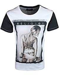 Religion Homme Smokin Crew Neck T-Shirt, Blanc