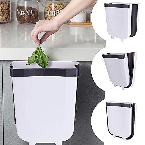 EVILTO Cubos de Basura Plegable Bote de Basura Colgante Basurero Plegable Basura Extraible para la Cocina...