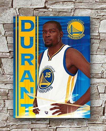 Huawuque Kevin Durant - Golden State Warriors Poster Standardgröße - 45,7 x 61 cm - NBA Basketball Poster