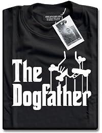 HotScamp Premium The Dogfather Mens Black T-Shirt