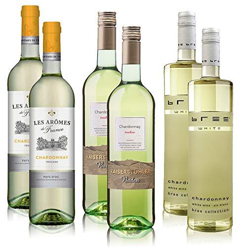7,54€/l Chardonnay Weißwein Paket Kaiserstühler, Les Aromes, Bree Wein