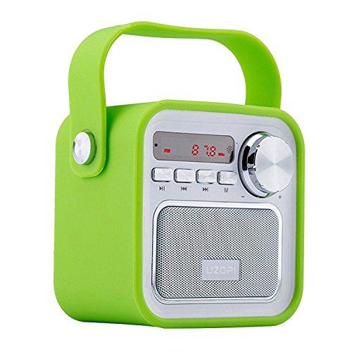 Altoparlanti bluetooth con radio, radio portatile fm wireless della cucina - 5w 2200mah basso potente, ingresso usb e aux tf scheda, microfono incorporato, per smartphone e tablet e pc vooki
