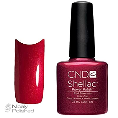 New CND Creative Shellac UV3 Power Polish - Red Baroness 7.3ml