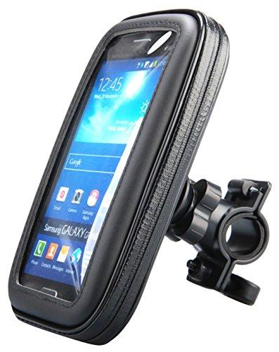 wasserdicht Universell bis 8,9 cm (3,5 Zoll) Fahrrad/Quad/Motorrad/Bike/Mofa Smartphone Halterung (Größe: S) für Sony/Samsung/Nokia/Apple iPhone/Wiko/HTC/LG/Huawei schwarz ()