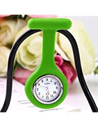 ShopyStore Green Outad 1Pcs Nurses Pocket Watch Mini Portable Silicone Doctor Fob Watch Multiple C