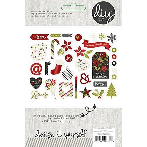 Natale fai da te truciolare adesivi 4