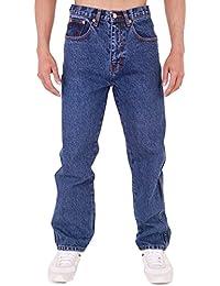AZTEC JEANS Mens Aztec Heavy Duty Basic Straight Leg Regular Fit Jeans