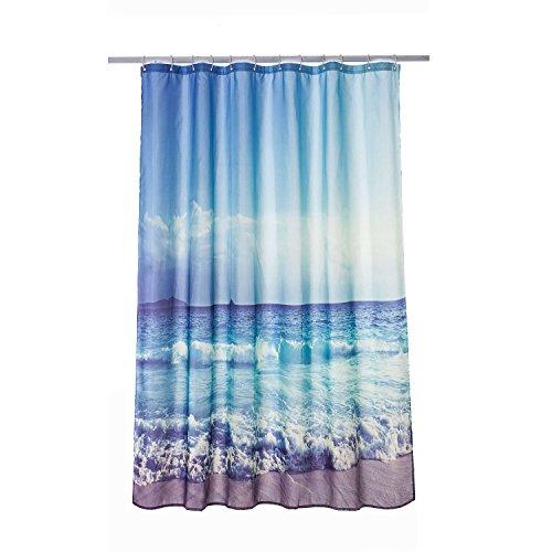 Moderna cortina para ducha Cortina impermeable del cuarto de baño 180*180cm, la playa