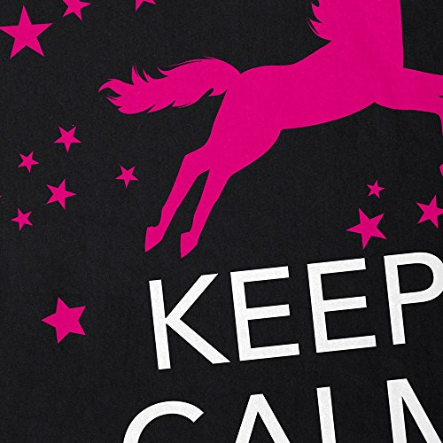 style3 Keep Calm and be a Unicorn Herren T-Shirt Einhorn Schwarz