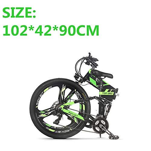 eBike_RICHBIT RLH-860 bicicleta eléctrica bicicleta de montaña plegable MTB e bicicleta 36V * 250W 12.8Ah litio – batería de hierro con rueda integrada de magnesio de 26 pulgadas
