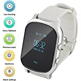 Orologio GPS per bambini anziani, Smart Watch Phone GPS Tracker con anti perso...