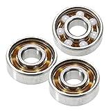 Nrpfell 3Pcs 608 Main Fidget Spinner CéRamique Vitesse ZrO2 Roulements à Billes Ensemble 8 X 22 X 7Mm