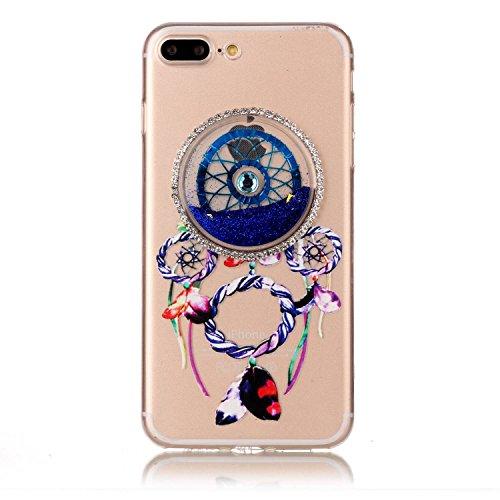 iPhone 7 Plus 5.5 Coque, Voguecase TPU avec Absorption de Choc, Etui Silicone Souple Transparent, Légère / Ajustement Parfait Coque Shell Housse Cover pour Apple iPhone 7 Plus 5.5 (Quicksand dreamcatc Quicksand dreamcatcher-Bleu