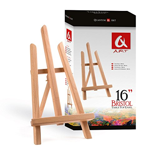 Table Top Easel 390mm BRISTOL Beech Wood by Quantum Art