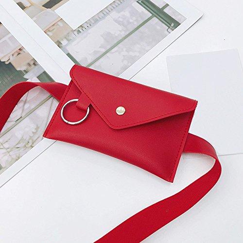 Borsa a tracolla,YanHoo Borse Donna Elegante borse donna borse pelle borse tracolla borse firmate, Borsa a tracolla per borsa a tracolla messenger in pelle con anello colore puro per le donne