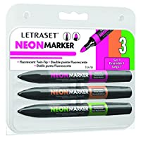 Letraset Neon Marker (Pack of 3)
