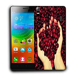 Snoogg Red Cherries Designer Protective Back Case Cover For LENOVO A7000 / K3 NOTE