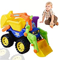 Truck Vehicle Toy Beach Toys Construction Vehicle Toy Children Large Machine Excavator Bulldozer Dump Truck Kid Toy (Excavator)1 PC