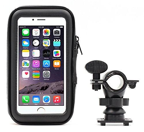 PREMIUM Fahrradhalterung Fahrradtasche Lenkradhalterung Bike Holder Phone Holder mit wasserdichter Schutzhülle Tasche Universal für Smartphones, Handy, Navi, GPS Außen 85x150x25mm Innen: 75x135x20mm