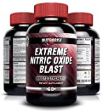 Extreme NO2 Nitric Oxide Booster For Men, Pre-Workout Formula with L-arginine and L-glutamine, Used by Bodybuilders to Build Muscle and Increase Pump, Increases Strength and Stamina, 60 Capsules