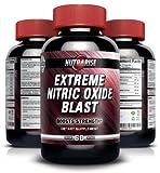 Incrementador extremo de Óxido Nítrico con L-Arginina y L-Glutamina para Construir Músculo Rápido, Aumenta el Rendimiento durante el Entrenamiento, Incrementa la Dureza del Músculo, Aumenta la Energía, Resistencia y el Periodo de Recuperación – 60 Cápsulas