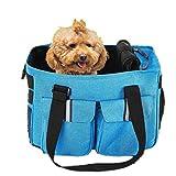 Petcomer Haustier Träger für Hunde Katze-Leichtgewichtstoff Weiche Seitiges Trage Reisegepäck Duffle Umhängetaschen Airline Genehmigt mit zusätzlichen Taschen (Grau)