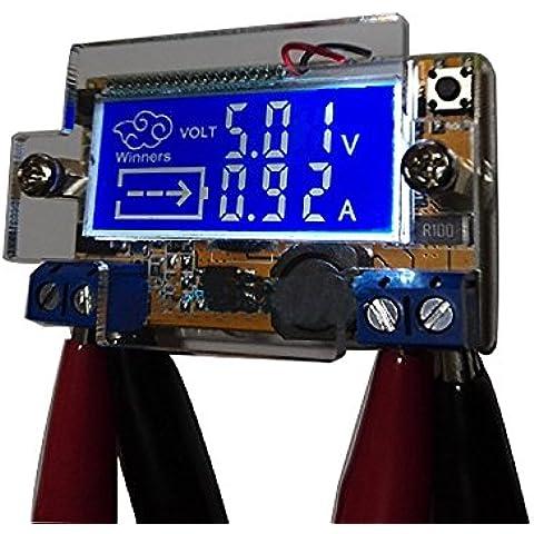 uniquegoods Nueva 5-23V (max) a 0-16.5V DC a DC ajustable Buck convertidor de bajada Fuente de alimentación del regulador de voltaje voltios variables Conversor Transformador del estabilizador del voltaje del voltímetro del amperímetro voltios amperios Display LCD