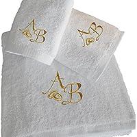 Top Calidad personalizado oro boda aniversario de regalo de baño - juego de toallas de baño