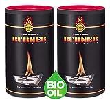 Burner Allume-feu écologique 2 x 100 pièces Bio inodore d'origine Naturel pour Barbecue, cheminée, poêle et cheminées - 200 sachets