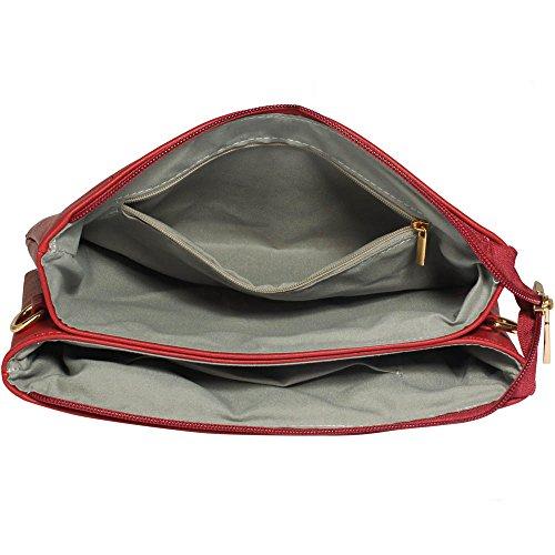 Trendstar Handtasche Der Frauen Querkörper Konstrukteur Damen Schulterkunstleder Messenger Tasche B - Burgund